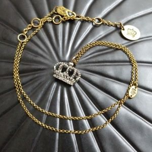 Juicy Couture Silver Crown Necklace